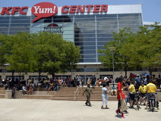 The YUM! Center before the start of the Muhammad Ali memorial service on June 10, 2016