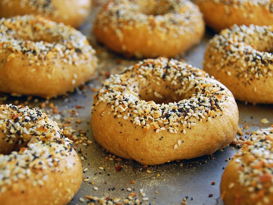 Everything bagels at the new Straight From New York