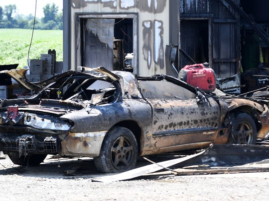 A shop in Maury City owned by Tommy Butner suffered severe fire damage, Wednesday, July 4.