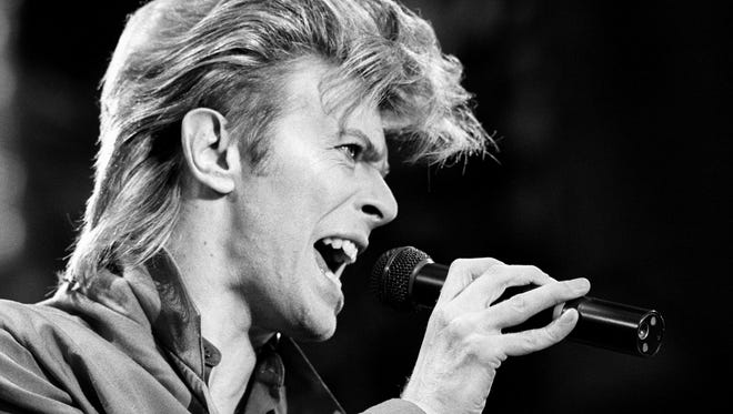 This is a June 19, 1987, photo of David Bowie. Bowie, the other-worldly musician who broke pop and rock boundaries with his creative musicianship, nonconformity, striking visuals and a genre-bending persona he christened Ziggy Stardust, died of cancer Jan. 10, 2016. He was 69 and had just released a new album.