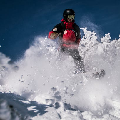 Ross Lodato, ski patroller at Stowe Mountain Resort,