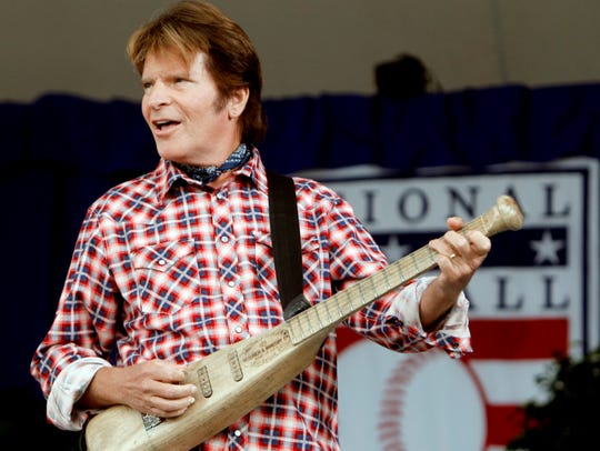 """Singer John Fogerty plays """"Centerfield"""" during the"""