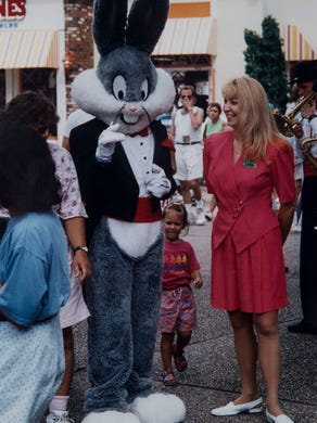 1993: Kristen Siebenachter of Mount Laurel hangs out with Bugs Bunny at Six Flags Great Adventure.