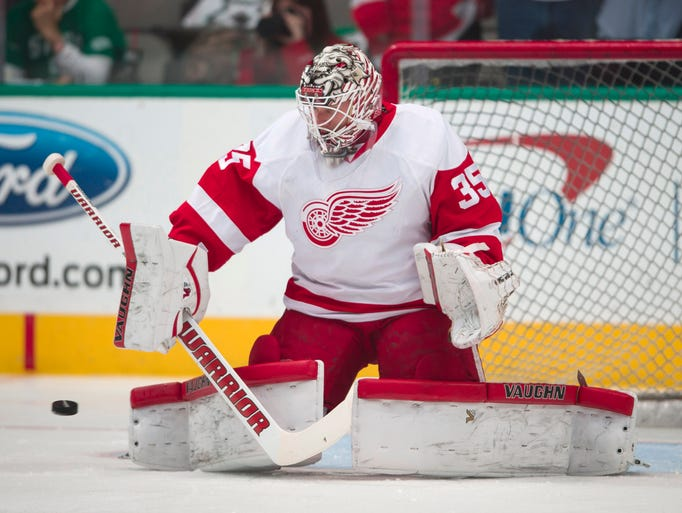 Feb. 29: Detroit Red Wings goalie Jimmy Howard Howard