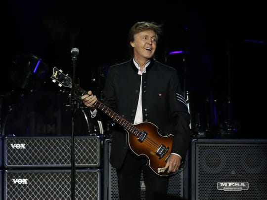 Paul McCartney performs on stage  at Prudential Center, Newark. Monday, September 11, 2017. Noah K. Murray-Correspondent Asbury Park Press