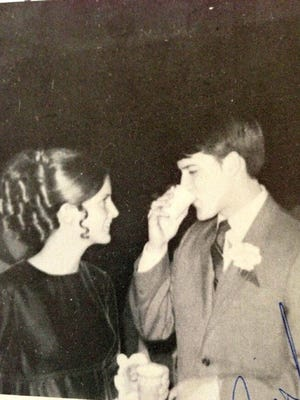 Cathy Schwartz and Jim Swiger at St. Clair High School's prom in 1971.