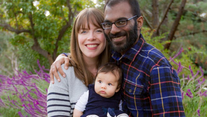 Paul Kalanithi, author of 'When Breath Becomes Air,' with his wife, Lucy, and their daughter, Cady. Kalanithi, a neurosurgeon, died last year.
