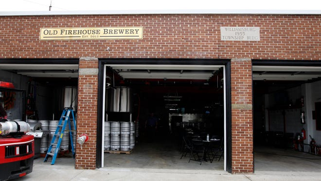 Old Firehouse Brewery in Williamsburg was once home to the Williamsburg Fire Department.