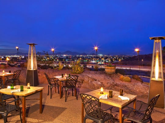 Enjoy a stunning view as you dine at Top of the Rock at Phoenix Marriott Tempe at The Buttes.