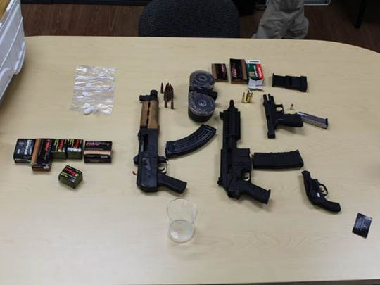 Guns seized in Fort Pierce  during April 2016.