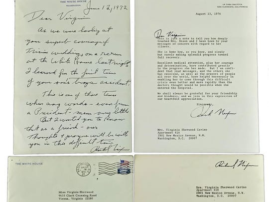 These Richard Nixon 1976 signed letters sold at auction for $16,000 in 2015.