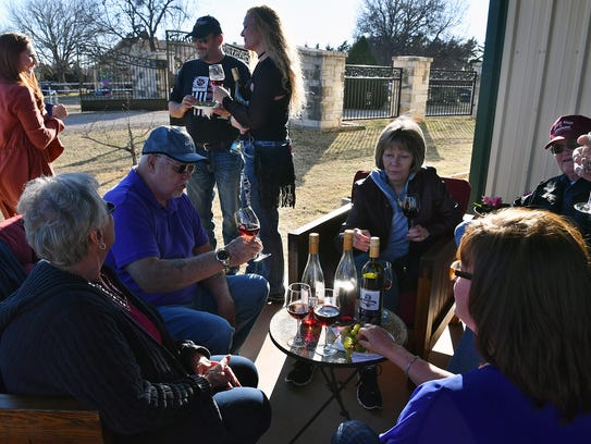 Patrons enjoy the grand opening of the Horseshoe Bend