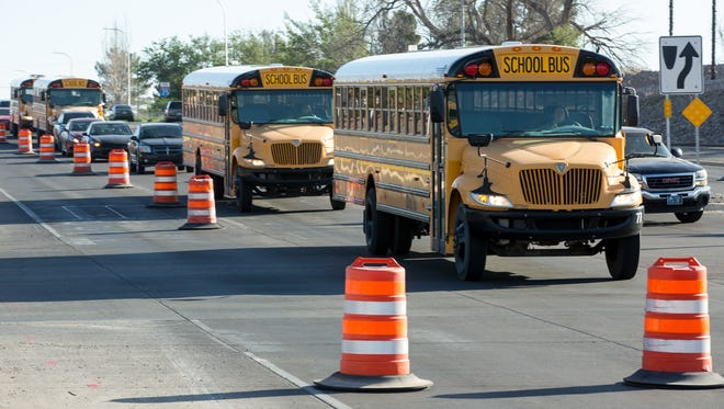 The Las Cruces school board approved a contract Tuesday for bus services in the upcoming school year.
