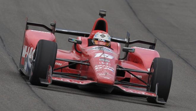Graham Rahal drove a Honda to victory on the 2-mile oval at Auto Club Speedway in Fontana, Calif., on June 27, 2016.