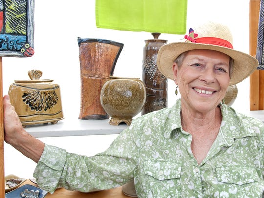 Jan Preston Archey shows off her creations at the 2015