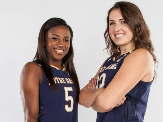 Freshmen Jackie Young (a Princeton, Ind. native) and Erin Boley are on the roster for top-ranked Notre Dame.