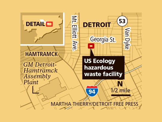 US Ecology hazardous waste facility