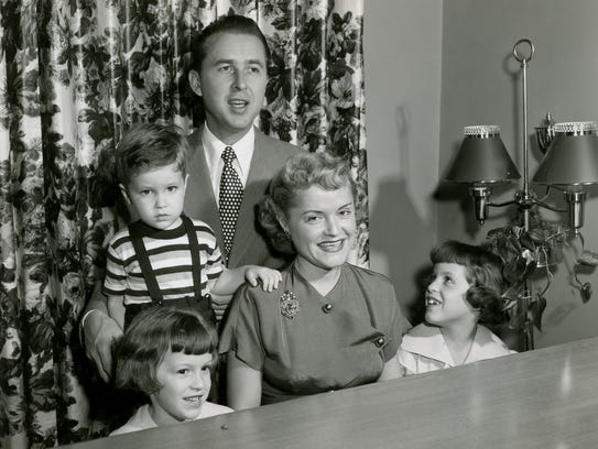 Ruth and Paul Henning and their children, Linda, Paul