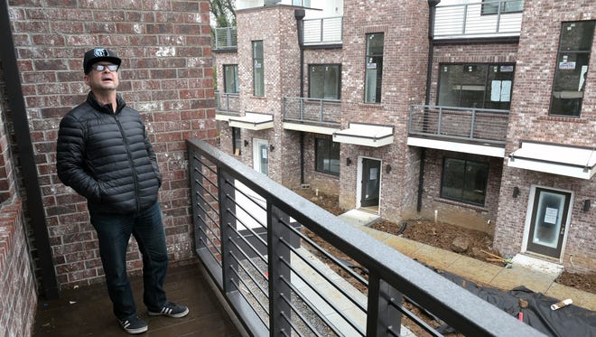 Bill Miller purchased a new townhome at Chester, a development in East Nashville, which is still under construction. The townhome has two decks.