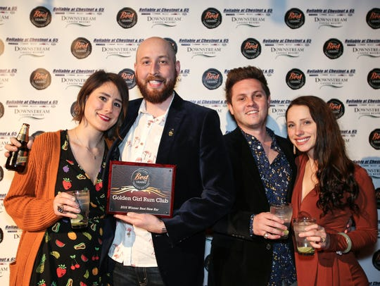 Josh Widner, third from right, is among the owners of Golden Girl Rum Club, photographed in 2017 for the News-Leader's Best of the Ozarks celebration. He is also owner-operator of Scotch & Soda and Cherry Picker Package x Fare.