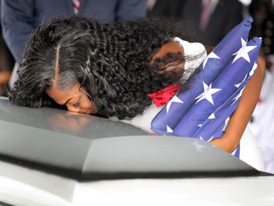 AP TRUMP FALLEN SOLDIER FUNERAL A USA FL