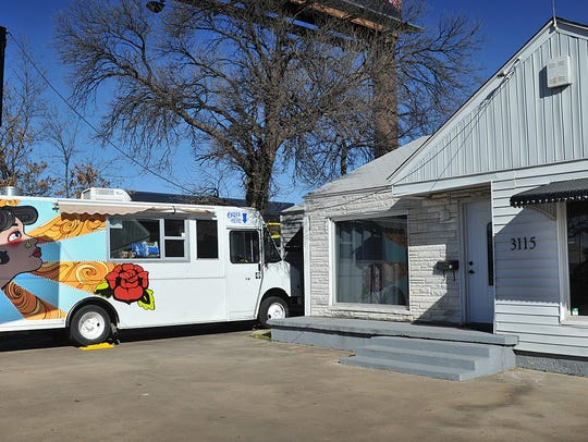 The Gypsy Kit food truck is stationed at the  Gypsy