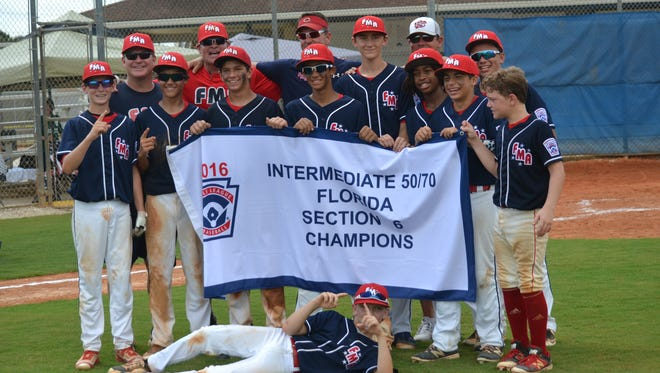 Fort Myers American 50/70 Section 6 champs.