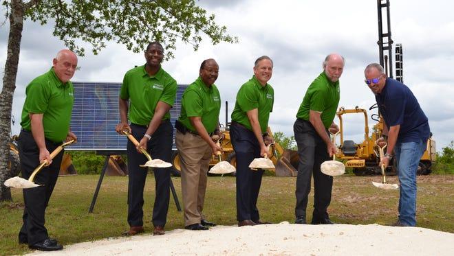 Community leaders break ground Tuesday on Tallahassee's 120-acre solar farm.
