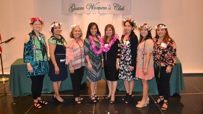 The Guam Women's Club held an installation of board membership at their general membership meeting May 25, 2018 at the Sheraton Laguna Guam Resort. Pictured is the 2018-2019 board members from left: Mary Louise Wheeler, vice president; Maricor Gerstenlauer, member at large; Loling Field, treasurer; Caroline H. Sablan, president; Leo Jordanou, immediate past president; Cari Nakagawa, corresponding secretary; Joiz Salas, recording secretary and Angie Gibbons, member at large