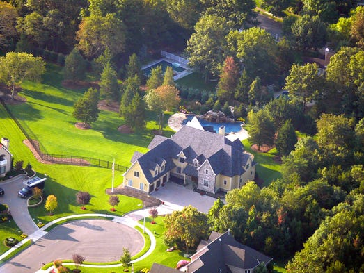 An aerial shot of  1412 Isabella Court.