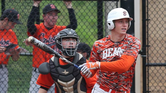 Briarcliff defeated Croton 10-1 in boys baseball action at Briarcliff High School April 27, 2017.