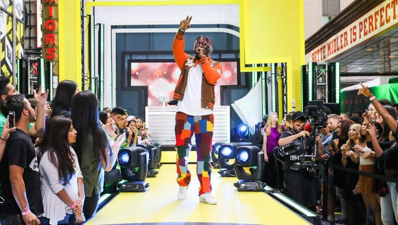 Lil Yachty performs on the premiere week of 'TRL.'