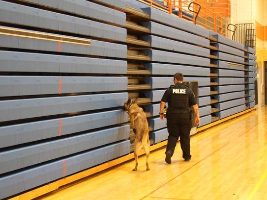 Officer Bridget Bofysil of the Eastern Michigan University