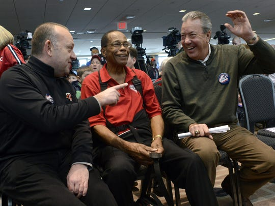 Rod Carew, Dave St. Peter, Dick Bremer