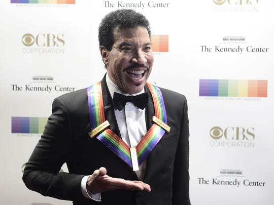Lionel Richie arrives for the 40th Annual Kennedy Center