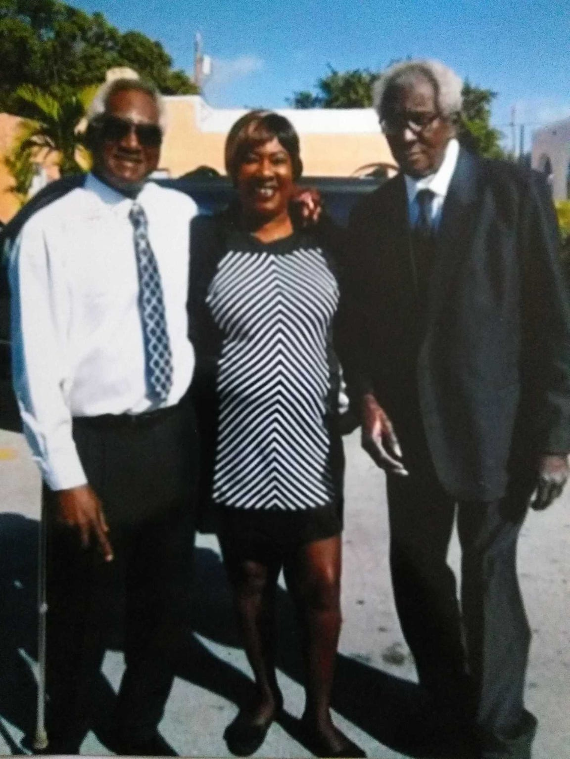 Coleman Felts, right, with his brother Larry McFarley and sister Toni McFarley. Felts wandered from the Golden Glades Nursing and Rehabilitation Center in Miami in December 2015 and drowned in a lake.