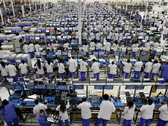 Factory Workers Prepare MOTO X Smartphones On The Floor At Flextronics Plant In Fort Worth It Is Only Cellphone Manufacturing