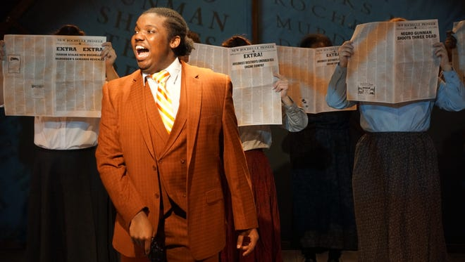 """Deon Shotwell and company in a scene from """"Ragtime."""""""