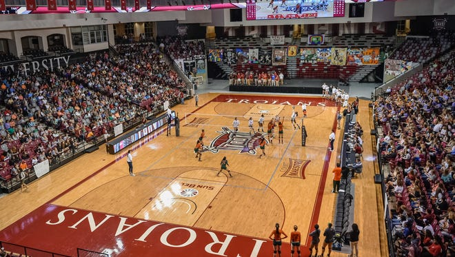 Record crowd came out Tuesday night to watch Troy take on Florida A&M.