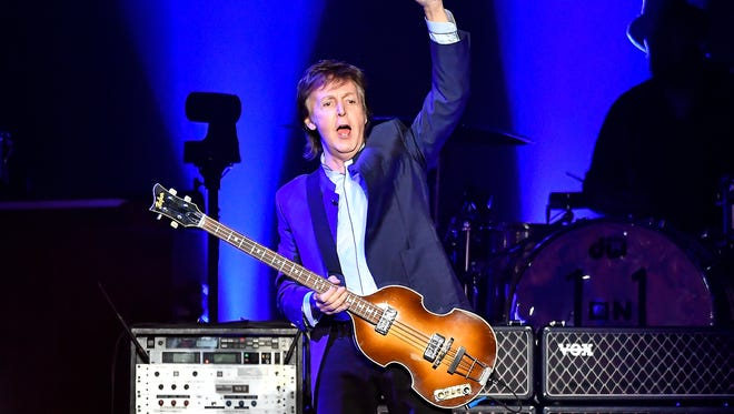 Paul McCartney performs on the opening night of his tour, April 13 in Fresno, Calif.