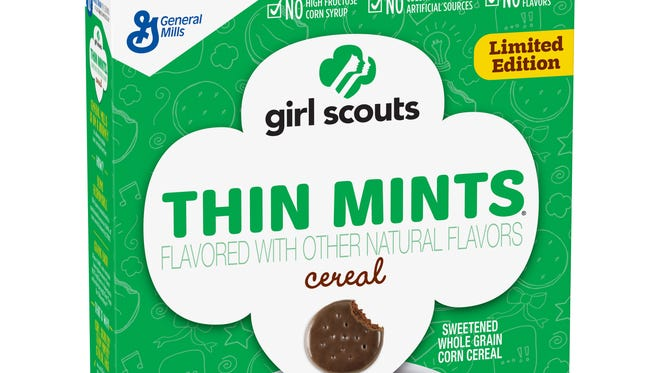 General Mills will make breakfast cereals based on Girl Scout cookies