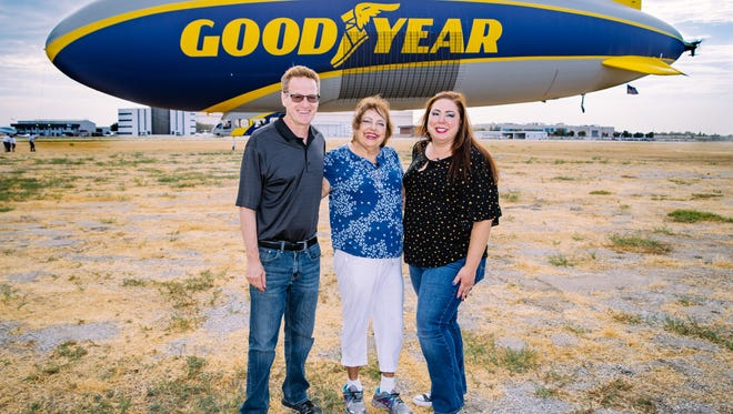 Anita Saavedra-Durnil, a Yucca Valley resident received a bucket list ride on the Goodyear Blimp on July 9, 2018.