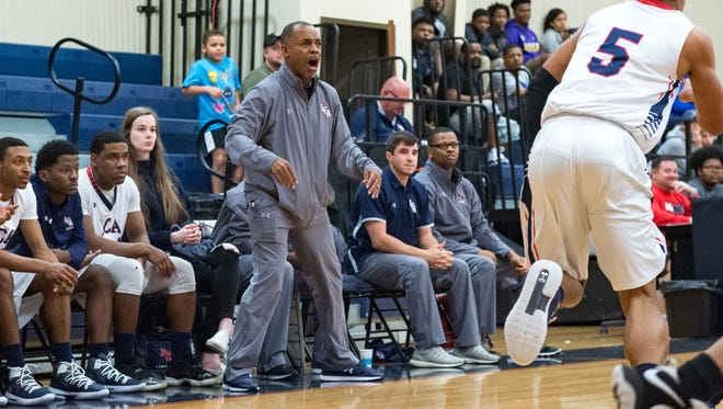 Lafayette Christian boys basketball coach Errol Rogers is shown on the sideline during a game in the LCA Showcase Classic on Dec. 19.