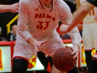 Palma's Wyatt Maker takes a shot against Half Moon Bay during their CCS Open Division basketball tournament game Tuesday at Palma High School in Salinas.