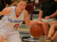 North Salinas' Jordyn Enos goes to the basket against Silver Creek during their CCS Div. 1 semifinal basketball tournament game Wednesday at Piedmont Hills High School in San Jose.
