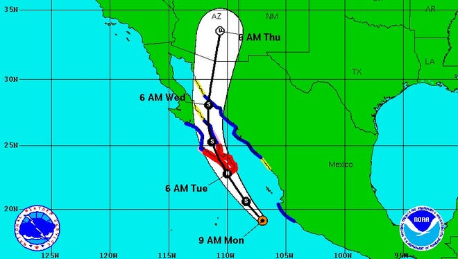 Hurricane Newton is expected to bring rain to West Texas and Southern New Mexico as it heads to Arizona.