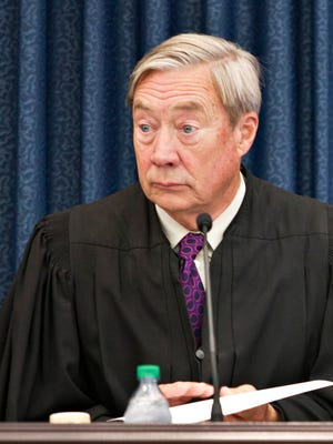 U.S. District Court Judge William Sessions III sits in federal court in Burlington on Tuesday, June 30, 2015.