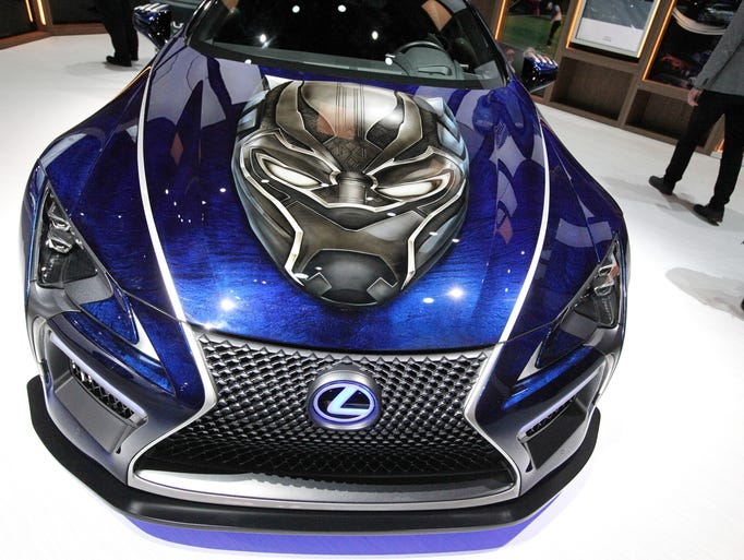 The Lexus Black Panther Inspired LC concept coupe,