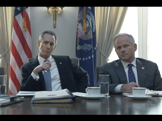 """Lee Murphy (right) in the second season of """"House of Cards."""""""