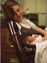 Loretta visited her daughter Alana everyday while she stayed in the neo natal care center at Henry Ford Hospital.